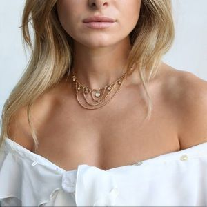 Jewelry - 18k Mirrored Dainty Choker in Gold